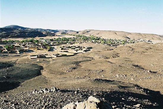 Les montagnes du Tigharghar, de l'Oued Tessalit